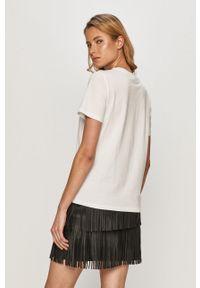 Biała bluzka only z nadrukiem, casualowa, na co dzień