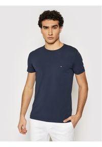 TOMMY HILFIGER - Tommy Hilfiger T-Shirt 867896625 Granatowy Slim Fit. Kolor: niebieski