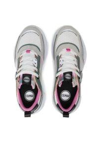 Colmar - Sneakersy COLMAR - Ayden Dye 122 Sage Green/Pink/White. Okazja: na co dzień. Kolor: biały. Materiał: zamsz, materiał, skóra ekologiczna, skóra. Szerokość cholewki: normalna. Sezon: lato. Obcas: na płaskiej podeszwie. Styl: casual