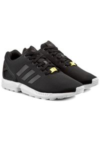 Czarne półbuty Adidas w paski, eleganckie, z cholewką, na lato