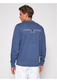 TOMMY HILFIGER - Tommy Hilfiger Bluza Hilfiger Logo MW0MW18714 Granatowy Regular Fit. Kolor: niebieski
