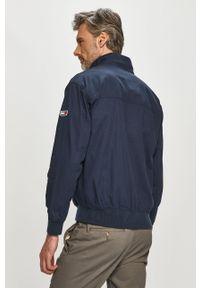 Niebieska kurtka Tommy Jeans na co dzień, bez kaptura, casualowa