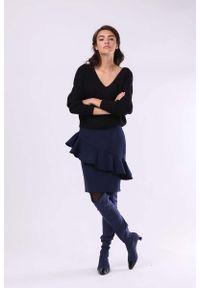 Niebieska spódnica ołówkowa Nommo