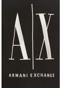 Czarna bluza nierozpinana Armani Exchange bez kaptura, z aplikacjami, casualowa #5