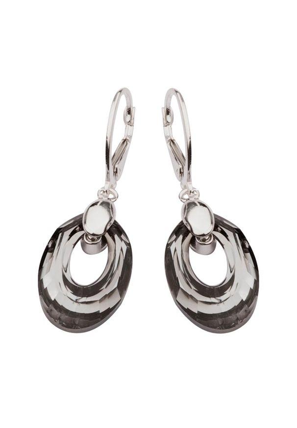 Polcarat Design - Kolczyki srebro Swarovski K 1533. Materiał: srebrne. Wzór: aplikacja. Kamień szlachetny: kryształ