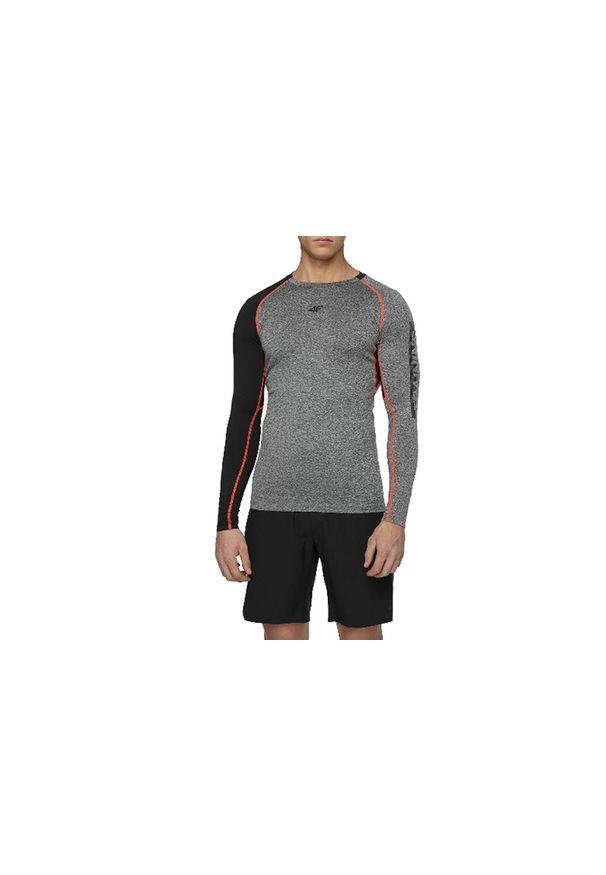 Szara koszulka sportowa 4f w kolorowe wzory