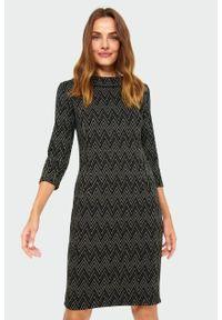 Sukienka Greenpoint elegancka, ze stójką