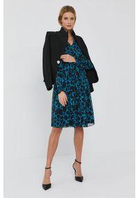 Nissa - NISSA - Sukienka. Materiał: tkanina. Długość rękawa: długi rękaw. Typ sukienki: rozkloszowane