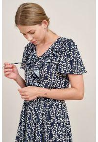 Marie Zélie - Sukienka Eulalia Serpyllum. Materiał: wiskoza. Długość rękawa: krótki rękaw. Długość: midi