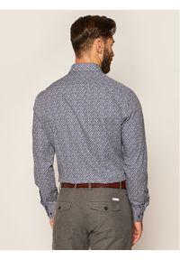 Tommy Hilfiger Tailored Koszula Leave Print Classic TT0TT07591 Granatowy Slim Fit. Kolor: niebieski. Wzór: nadruk