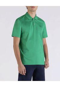PAUL & SHARK - Zielona koszulka polo z bawełny. Typ kołnierza: polo. Kolor: zielony. Materiał: bawełna. Wzór: aplikacja. Styl: elegancki