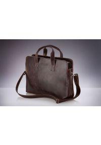 Brązowa torba na laptopa Solier klasyczna