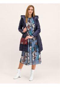 Niebieski płaszcz zimowy Pennyblack