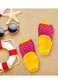 REALPAKS - Klapki dziecięce Realpaks SLD-07/1 Różowe. Okazja: na plażę. Kolor: różowy. Materiał: tworzywo sztuczne. Styl: młodzieżowy