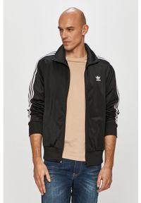 Czarna bluza rozpinana adidas Originals bez kaptura, casualowa