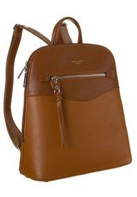 DAVID JONES - Plecak damski koniakowy David Jones 6263-2 CONIAC. Materiał: skóra ekologiczna