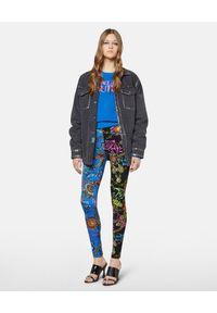 Versace Jeans Couture - VERSACE JEANS COUTURE - Leginsy z nadrukiem barokowym Regalia. Kolor: czarny. Materiał: materiał. Wzór: nadruk