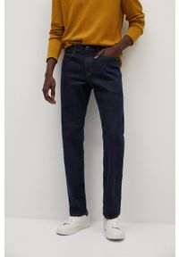 Turkusowe jeansy Mango Man