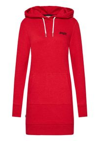 Czerwona sukienka dzianinowa Superdry