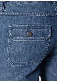 """Krótkie ogrodniczki ciążowe bonprix niebieski """"stone"""". Kolekcja: moda ciążowa. Kolor: niebieski. Długość: krótkie"""