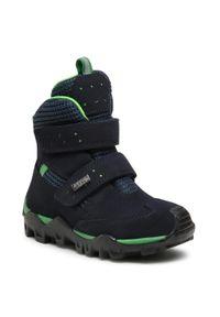 Bartek - Śniegowce BARTEK - 4395-V58L Granatowy. Okazja: na spacer. Kolor: niebieski. Materiał: skóra, zamsz. Sezon: zima, jesień