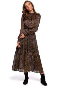 Sukienka MOE w grochy, midi