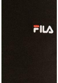 Czarna bluzka z długim rękawem Fila casualowa, na co dzień, gładkie