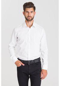 Biała koszula Just Cavalli na lato, na spotkanie biznesowe, biznesowa