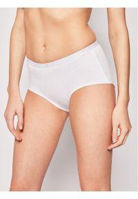 Białe figi Emporio Armani Underwear z podwyższonym stanem