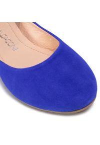 Niebieskie baleriny Baldaccini casualowe, z cholewką