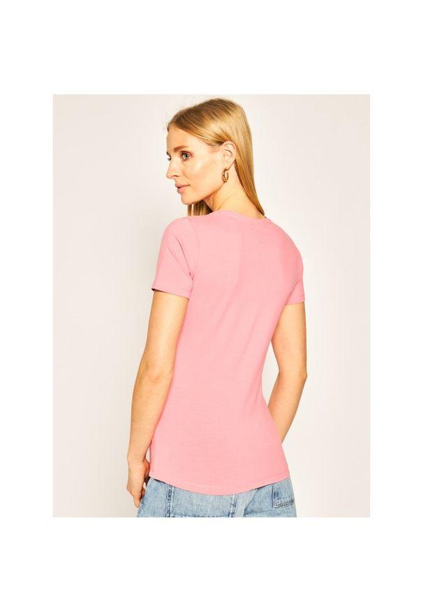 Różowy t-shirt Pepe Jeans