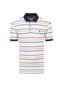 Polo Golf Ralph Lauren - Koszulka polo POLO GOLF RALPH LAUREN SSKCPFSPPM3. Typ kołnierza: golf, polo. Materiał: mesh, bawełna, elastan, tkanina, prążkowany. Wzór: ze splotem, aplikacja, kolorowy. Styl: sportowy, wakacyjny