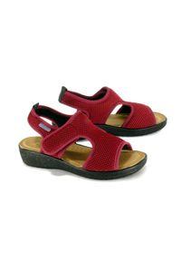 Czerwone sandały Fly Flot na rzepy