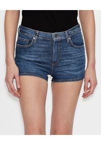Armani Exchange - ARMANI EXCHANGE - Modelujące jeansowe szorty. Okazja: na co dzień. Kolor: niebieski. Materiał: jeans. Wzór: nadruk. Sezon: lato. Styl: wakacyjny, casual