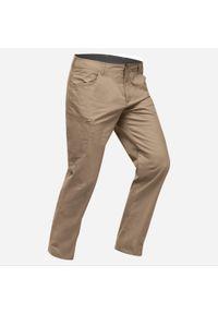 quechua - Spodnie turystyczne męskie Quechua NH500 Regular. Materiał: bawełna, poliester, materiał, elastan