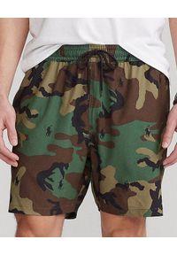 Ralph Lauren - RALPH LAUREN - Spodenki kąpielowe mor Traveller. Kolor: zielony. Materiał: mesh, tkanina. Wzór: moro, haft, aplikacja