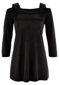 Czarna bluzka bonprix elegancka, długa