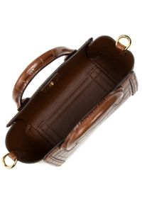 Brązowa torebka klasyczna Lauren Ralph Lauren skórzana
