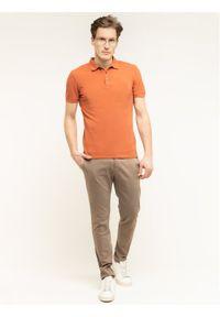 Baldessarini Polo Pino Nos 47408/000/5346 Pomarańczowy Slim Fit. Typ kołnierza: polo. Kolor: pomarańczowy