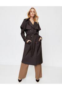 Brązowy płaszcz ICON na jesień