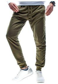 Zielone spodnie dresowe Recea w kolorowe wzory