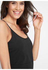 Czarna sukienka bonprix na ramiączkach, na lato