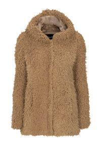 Happy Holly Kurtka ze sztucznego futra Jenny Jasnobeżowy female beżowy/brązowy 48/50. Kolor: beżowy, brązowy, wielokolorowy. Materiał: futro. Sezon: jesień, wiosna #1