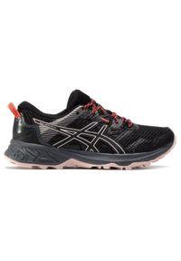 Czarne buty do biegania Asics z cholewką, na co dzień