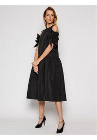 Czarna sukienka koktajlowa Victoria Victoria Beckham wizytowa
