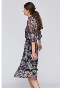 medicine - Medicine - Sukienka Pastel Bouquet. Materiał: tkanina. Typ sukienki: rozkloszowane