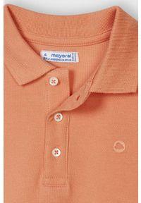 Pomarańczowy t-shirt polo Mayoral na co dzień, gładki