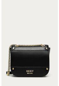 Czarna listonoszka DKNY mała, z aplikacjami