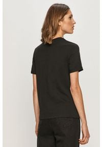 Czarna bluzka Pieces casualowa, na co dzień