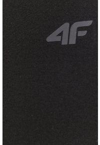 4f - 4F - Sukienka. Kolor: czarny. Materiał: dzianina. Wzór: gładki. Typ sukienki: dopasowane